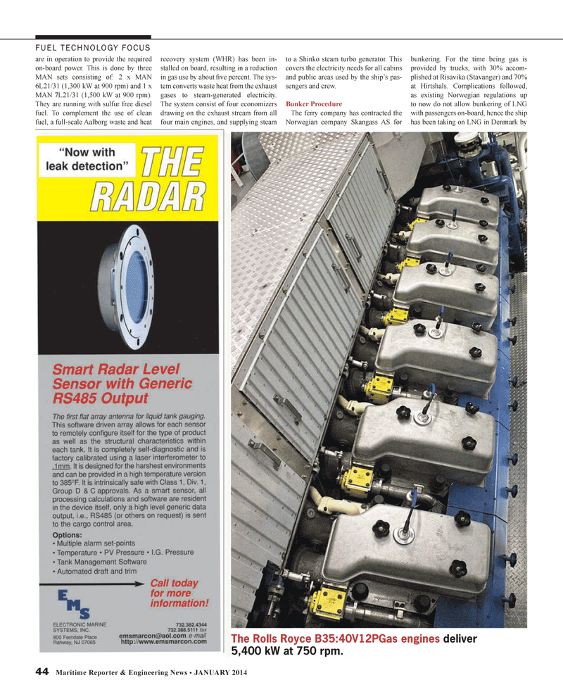 Maritime Reporter Magazine, page 44,  Jan 2014 electricity needs