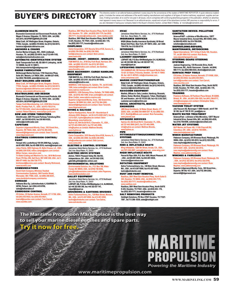 Maritime Reporter Magazine, page 59,  Jan 2014 advertising programs