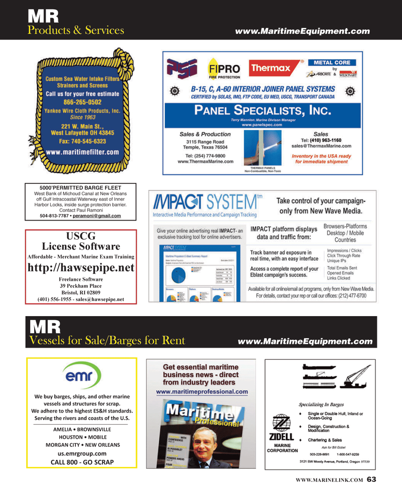 Maritime Reporter Magazine, page 63,  Jan 2014 Paul Ramoni