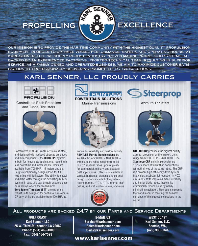 Maritime Reporter Magazine, page 4th Cover,  Jan 2014 Washington