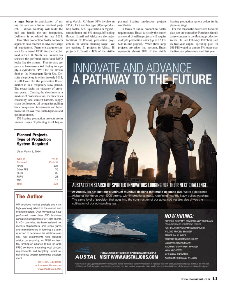 Maritime Reporter Magazine, page 11,  Mar 2014 oil and gas investments