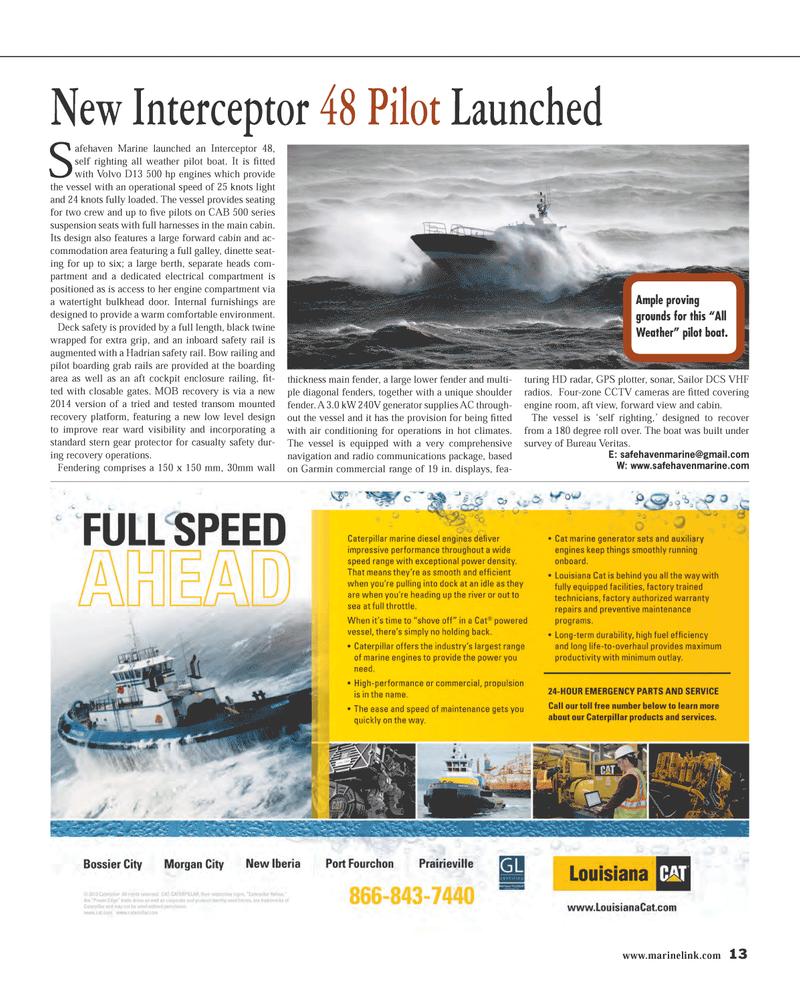 Maritime Reporter Magazine, page 13,  Mar 2014 radio communications