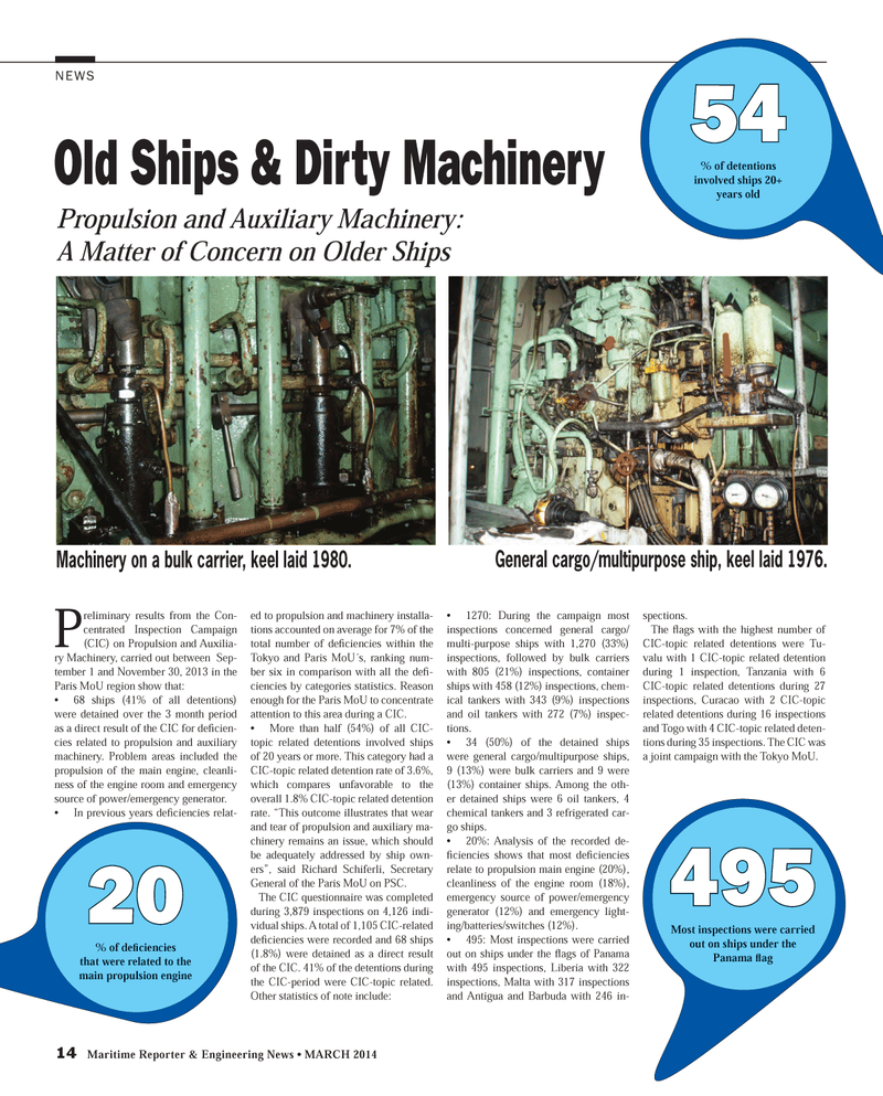 Maritime Reporter Magazine, page 14,  Mar 2014 refrigerated car