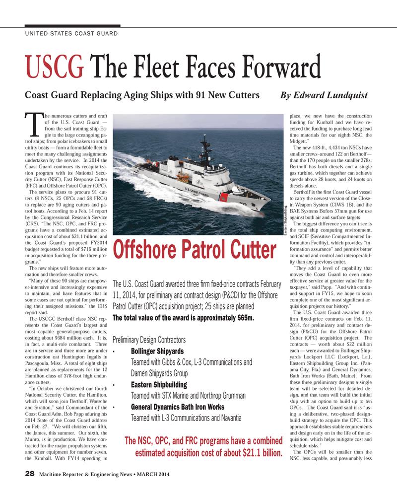 Maritime Reporter Magazine, page 28,  Mar 2014 Maine