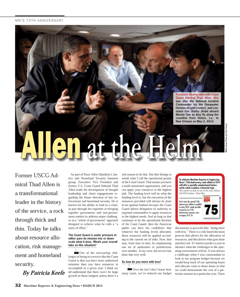 Maritime Reporter Magazine, page 32,  Mar 2014 Bobby Jindal