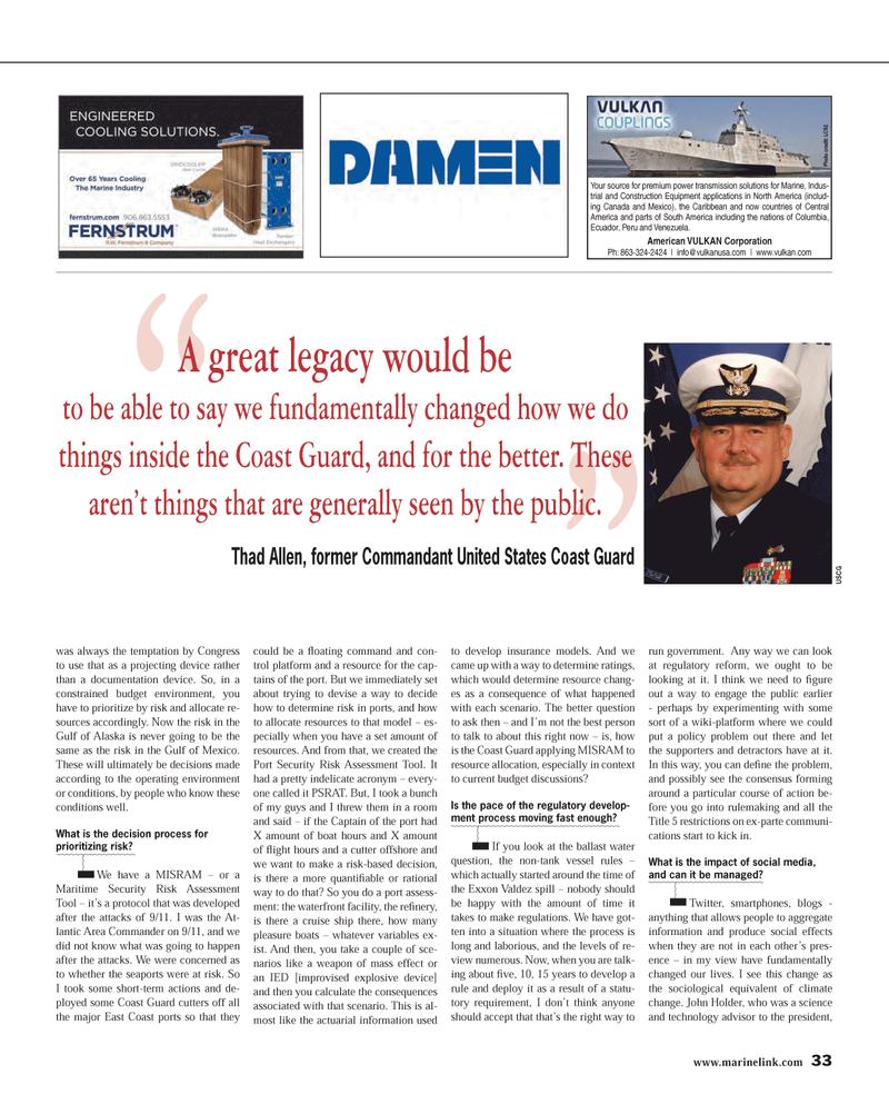 Maritime Reporter Magazine, page 33,  Mar 2014 east coast