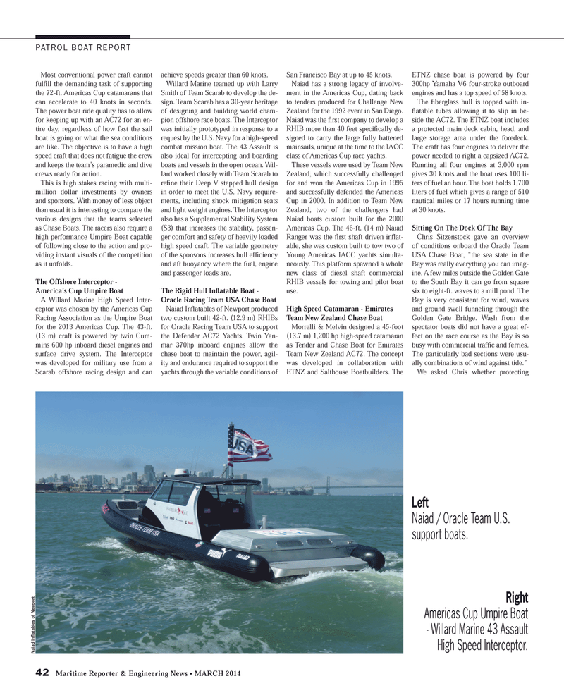 Maritime Reporter Magazine, page 42,  Mar 2014 Larry Smith