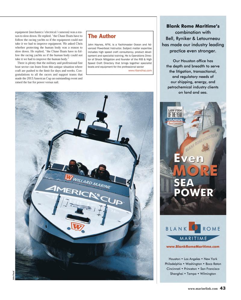 Maritime Reporter Magazine, page 43,  Mar 2014 John Fleck
