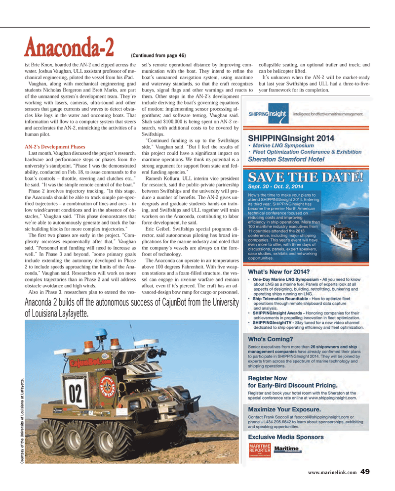 Maritime Reporter Magazine, page 49,  Mar 2014