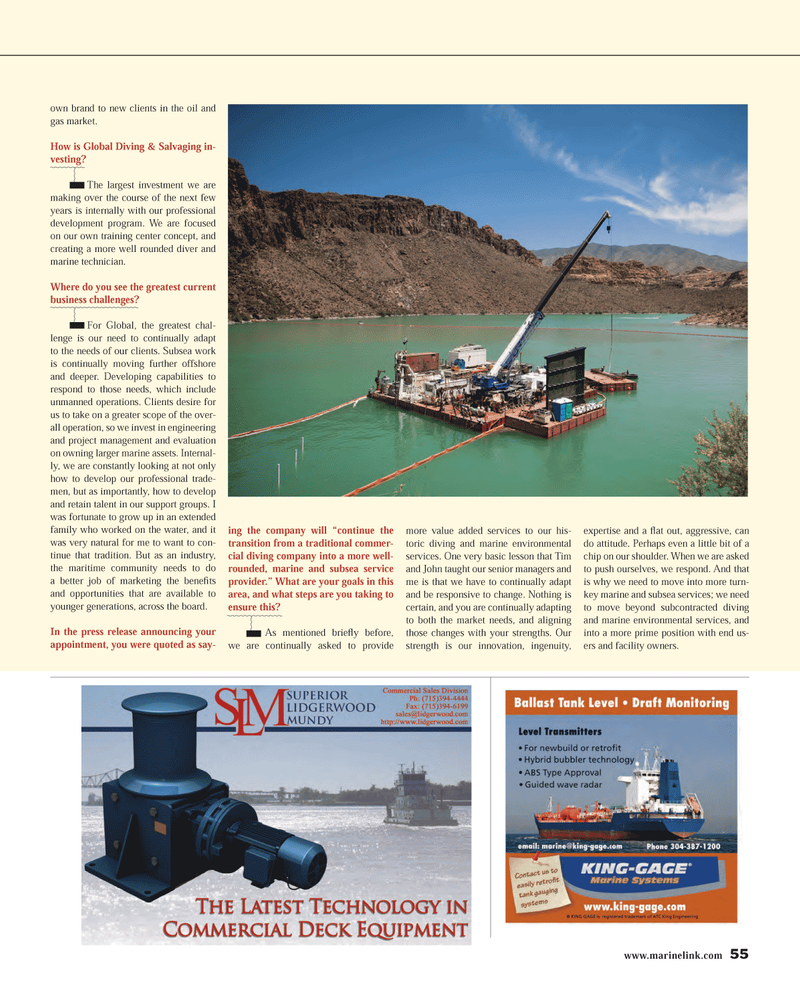 Maritime Reporter Magazine, page 55,  Mar 2014 marine and subsea services