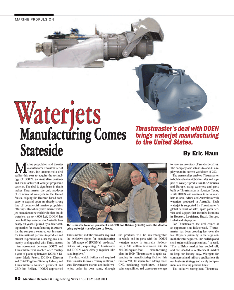 Maritime Reporter Magazine, page 50,  Sep 2014