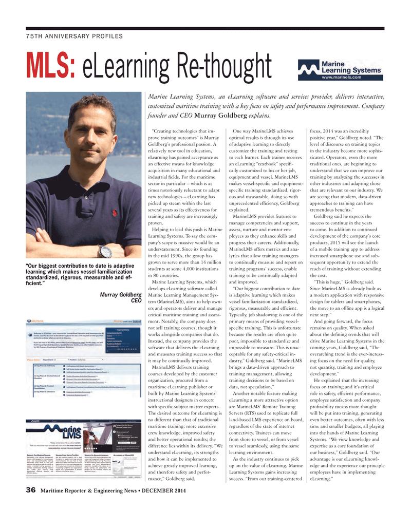 Maritime Reporter Magazine, page 36,  Dec 2014