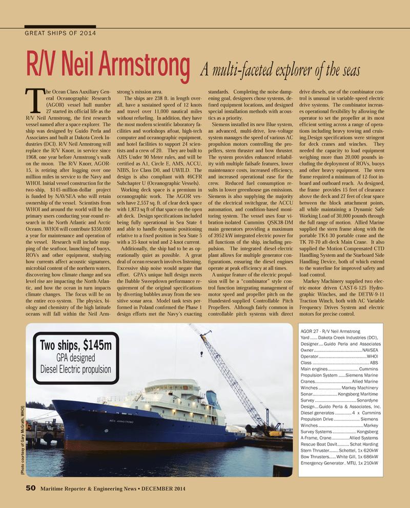 Maritime Reporter Magazine, page 50,  Dec 2014