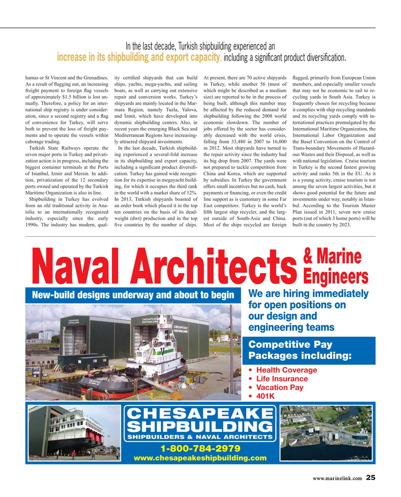 Maritime Reporter Magazine, page 25,  Mar 2015