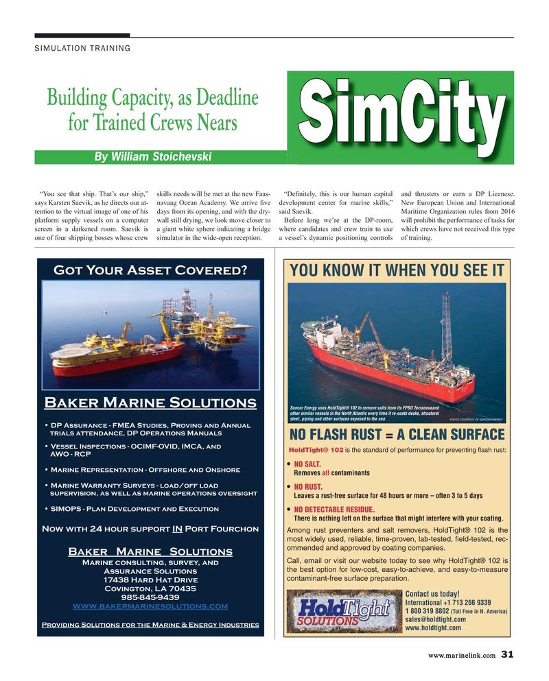 Maritime Reporter Magazine, page 31,  Mar 2015