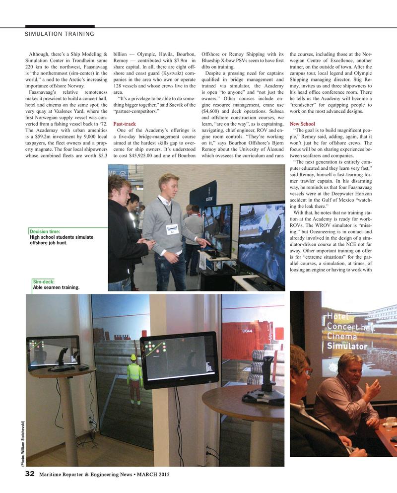 Maritime Reporter Magazine, page 32,  Mar 2015