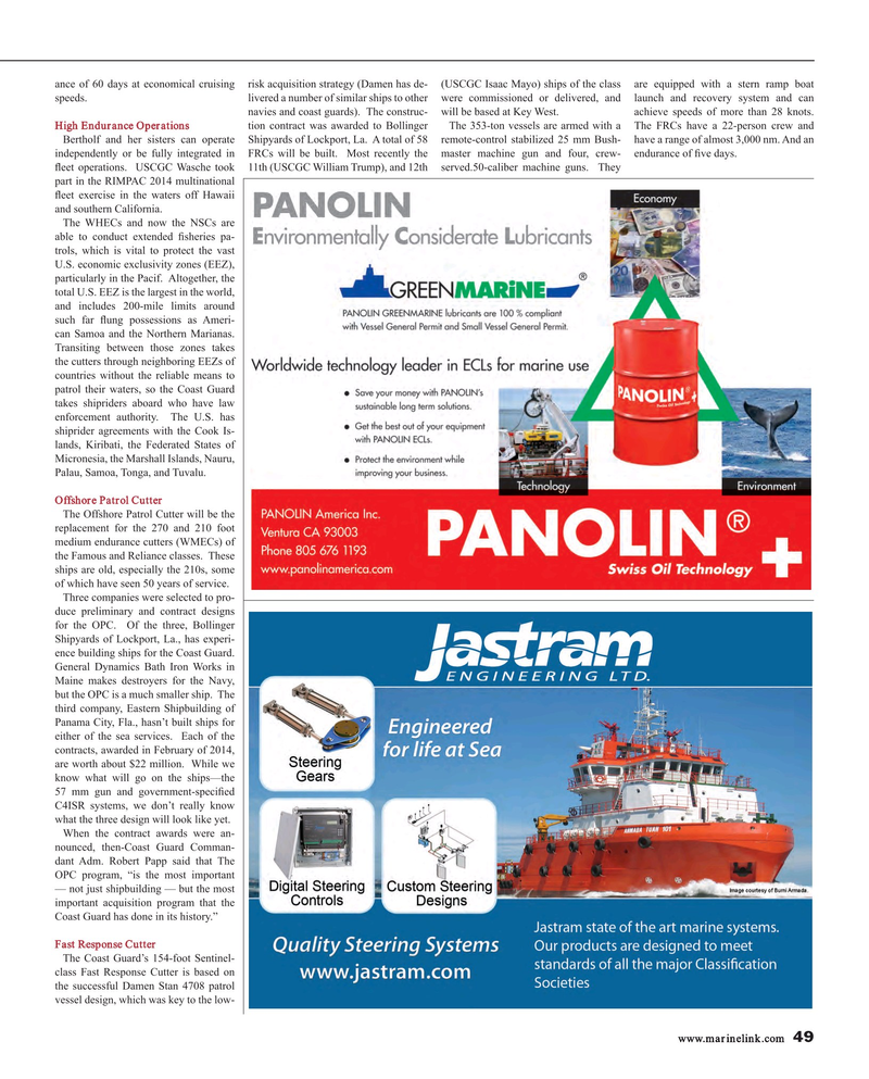Maritime Reporter Magazine, page 49,  Mar 2015