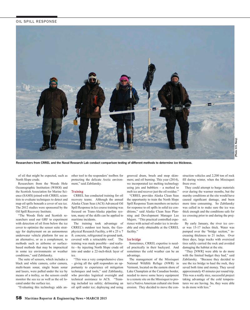 Maritime Reporter Magazine, page 58,  Mar 2015