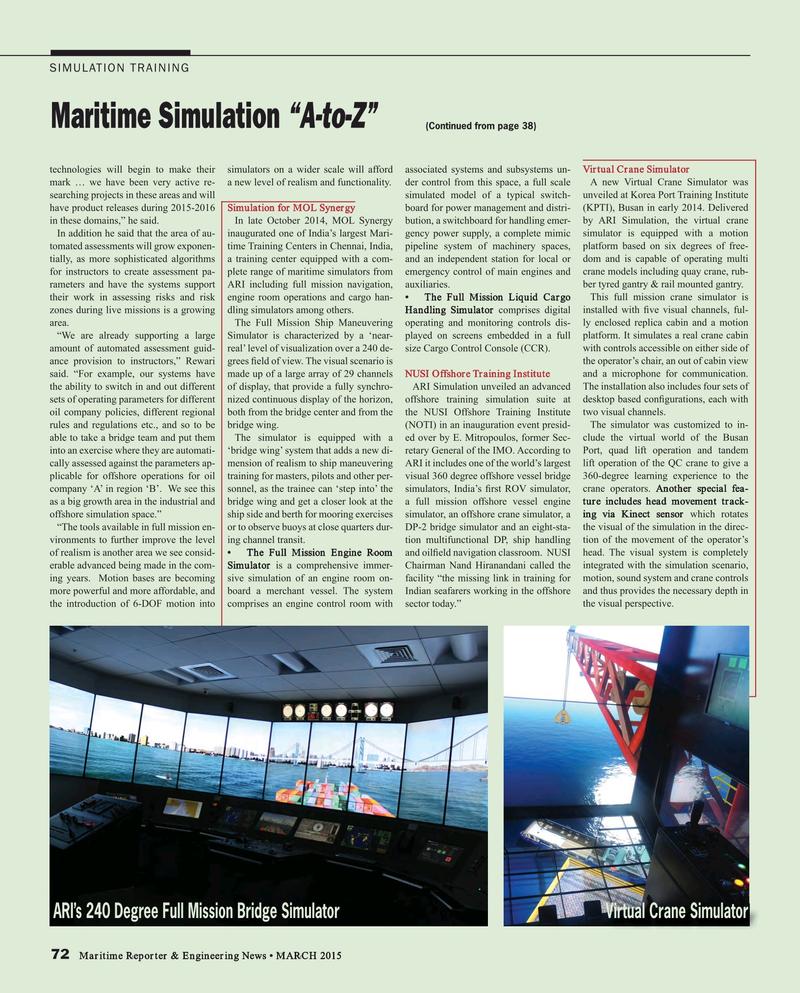 Maritime Reporter Magazine, page 72,  Mar 2015