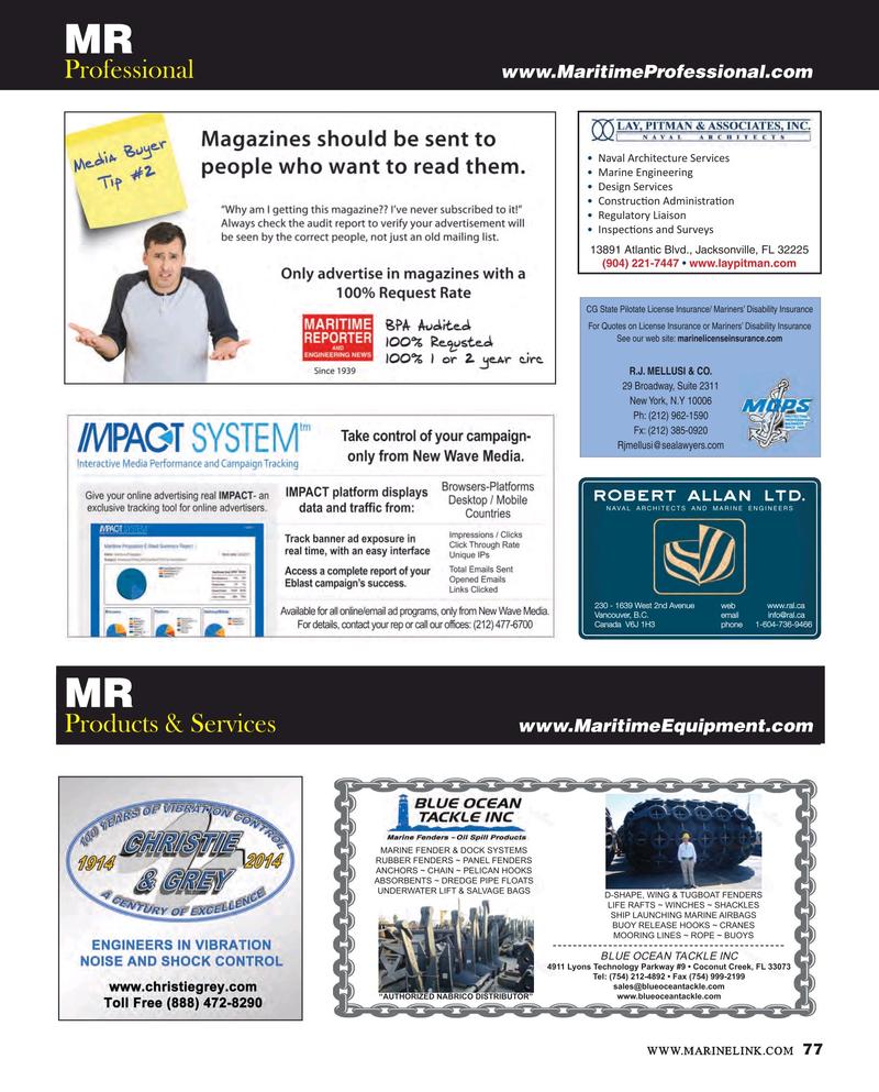Maritime Reporter Magazine, page 77,  Mar 2015