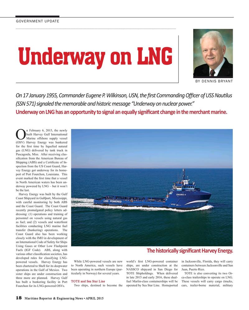 Maritime Reporter Magazine, page 18,  Apr 2015