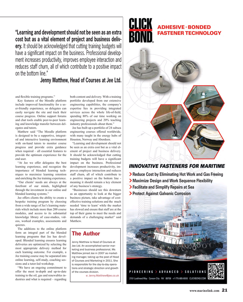 Maritime Reporter Magazine, page 21,  May 2015