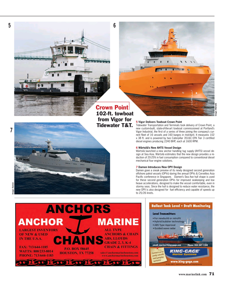 Maritime Reporter Magazine, page 71,  May 2015