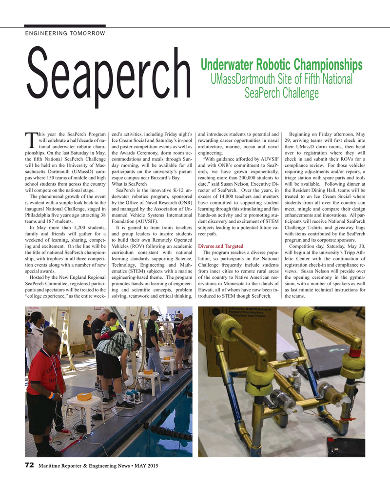 Maritime Reporter Magazine, page 72,  May 2015
