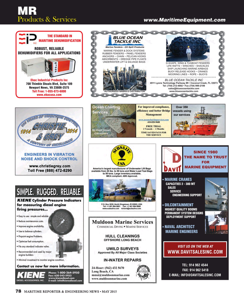 Maritime Reporter Magazine, page 78,  May 2015