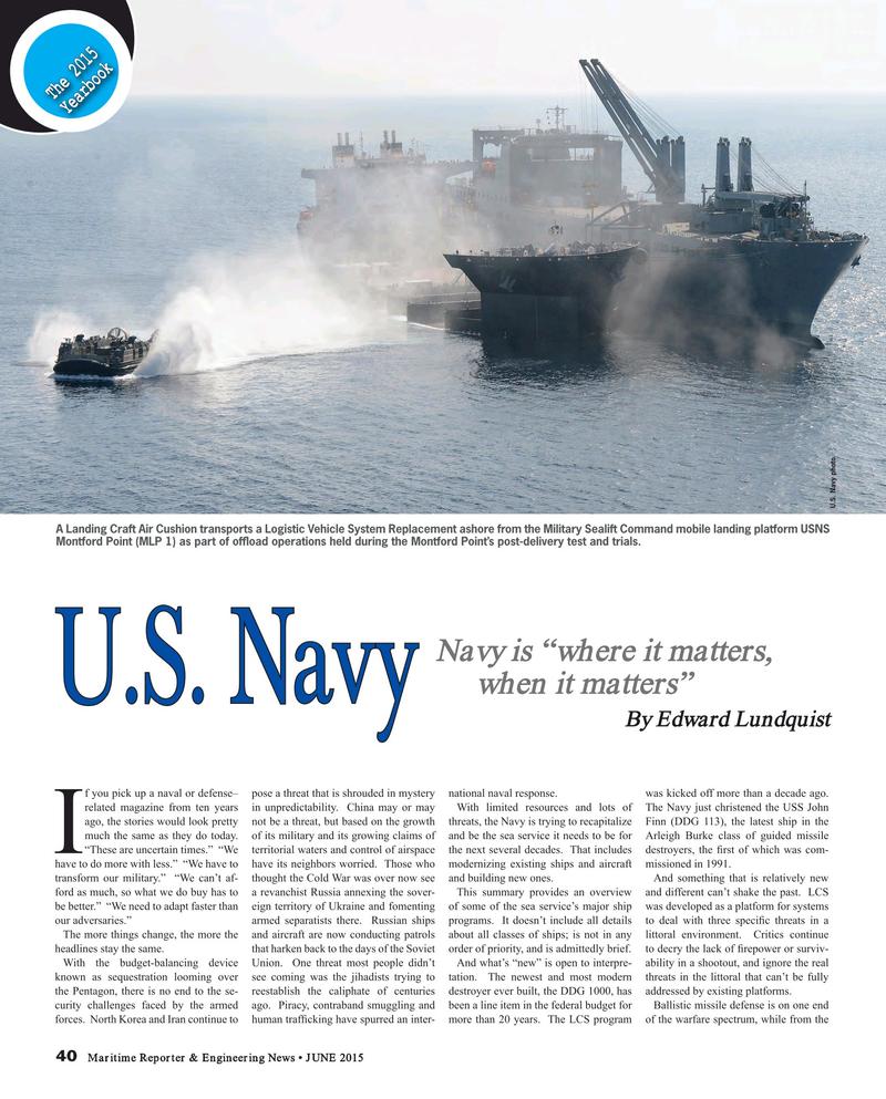 Maritime Reporter Magazine, page 40,  Jun 2015