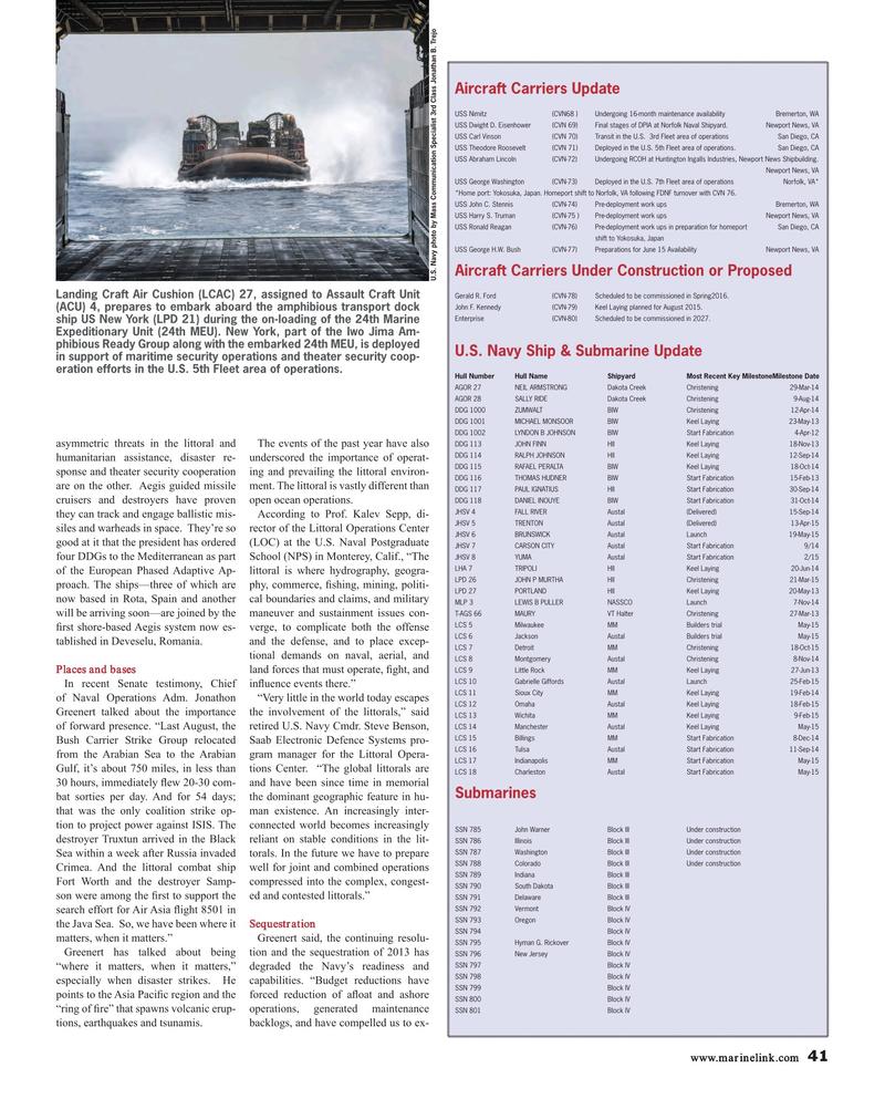 Maritime Reporter Magazine, page 41,  Jun 2015