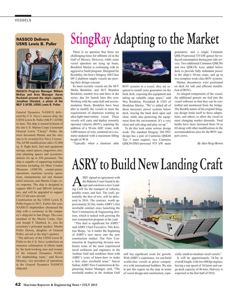 Maritime Reporter Magazine, page 42,  Jul 2015