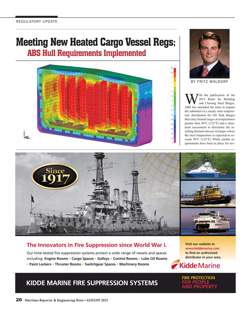 Maritime Reporter Magazine, page 20,  Aug 2015