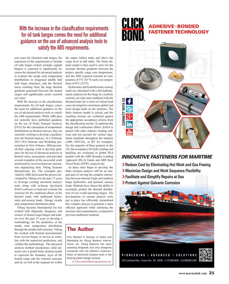 Maritime Reporter Magazine, page 21,  Aug 2015