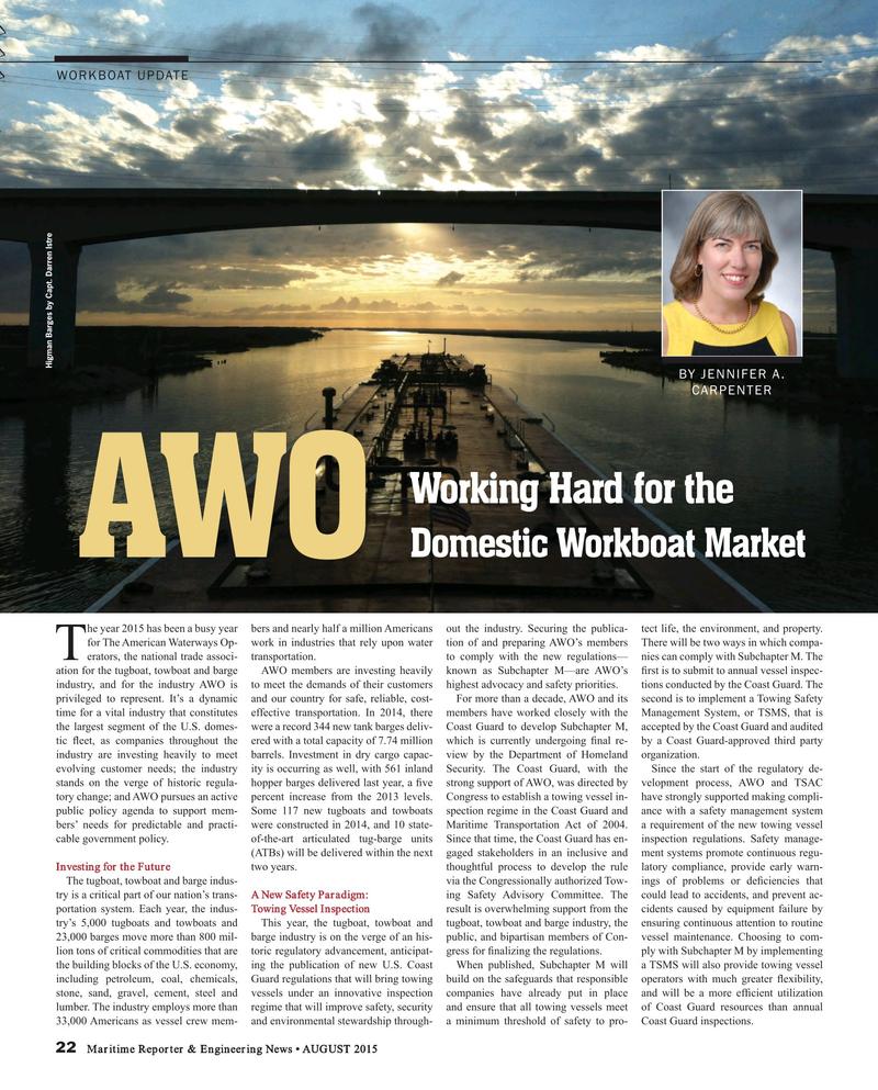 Maritime Reporter Magazine, page 22,  Aug 2015