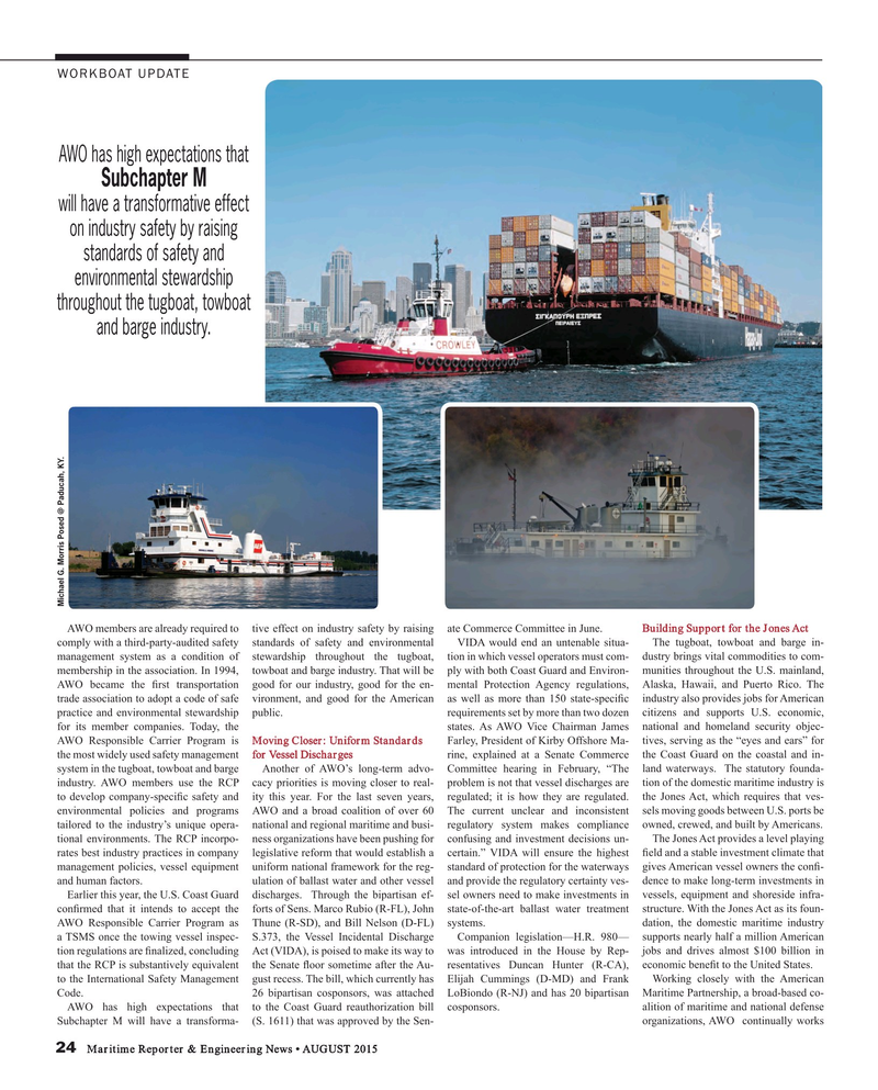 Maritime Reporter Magazine, page 24,  Aug 2015