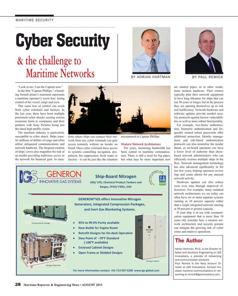 Maritime Reporter Magazine, page 28,  Aug 2015