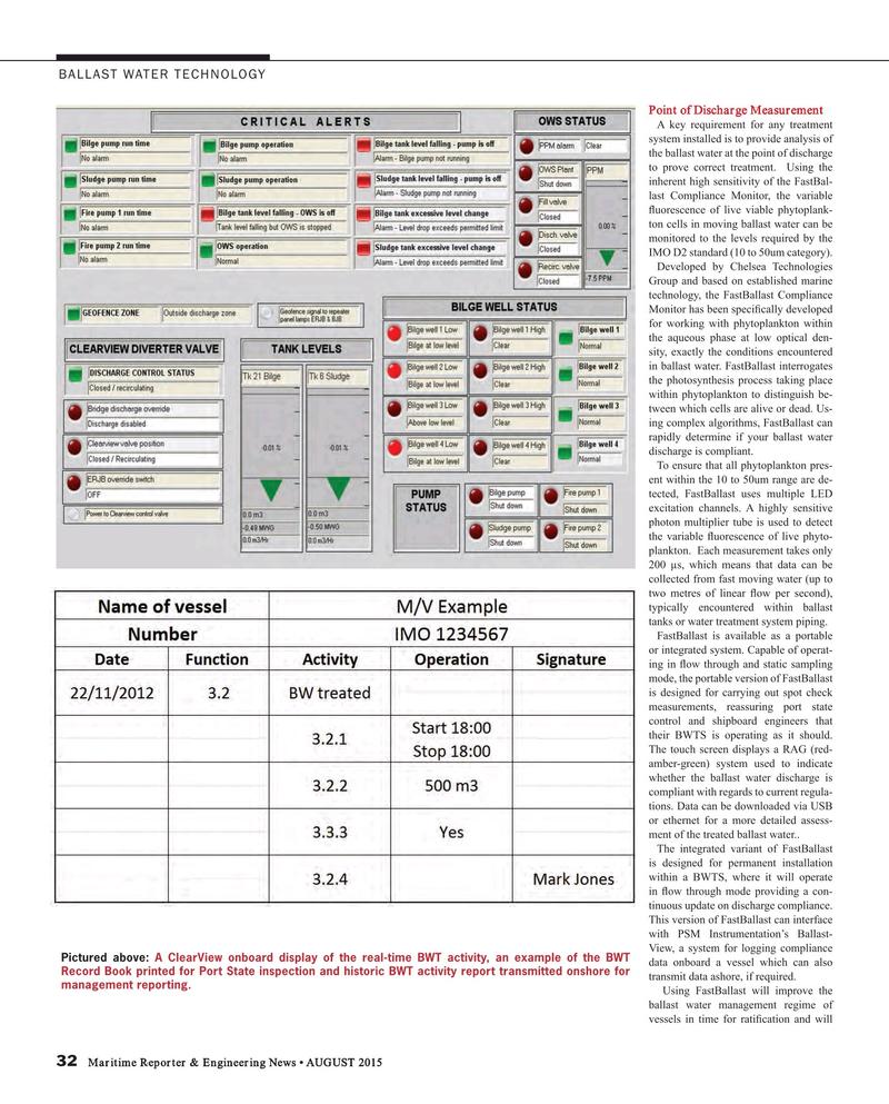 Maritime Reporter Magazine, page 32,  Aug 2015