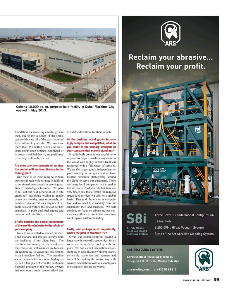 Maritime Reporter Magazine, page 39,  Aug 2015
