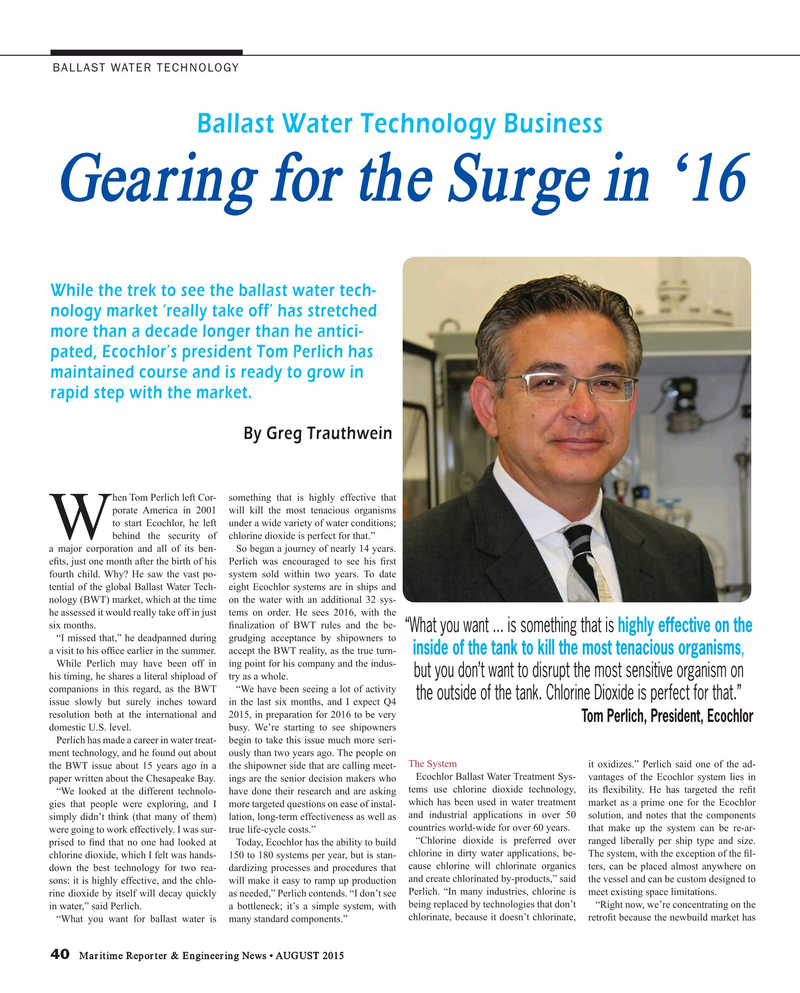 Maritime Reporter Magazine, page 40,  Aug 2015