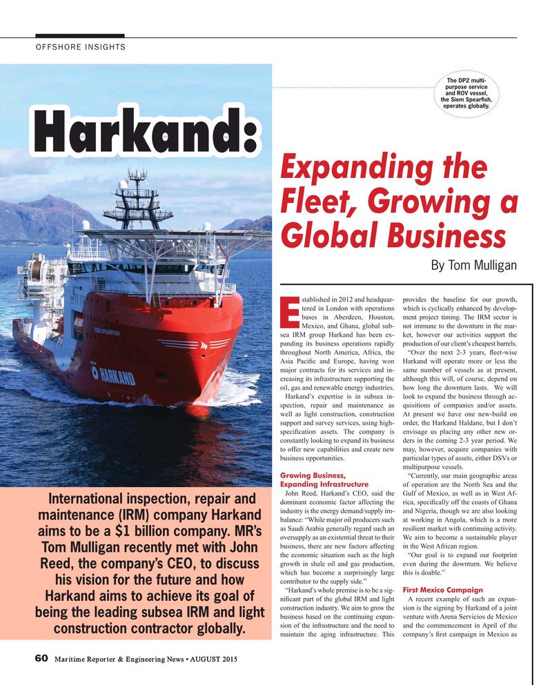 Maritime Reporter Magazine, page 60,  Aug 2015