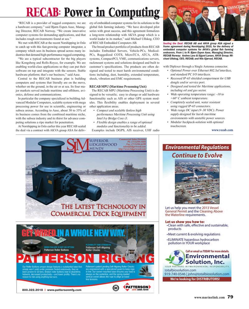 Maritime Reporter Magazine, page 79,  Aug 2015