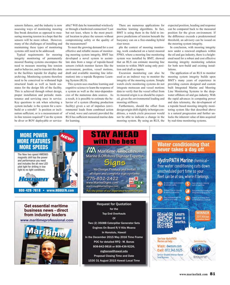 Maritime Reporter Magazine, page 81,  Aug 2015