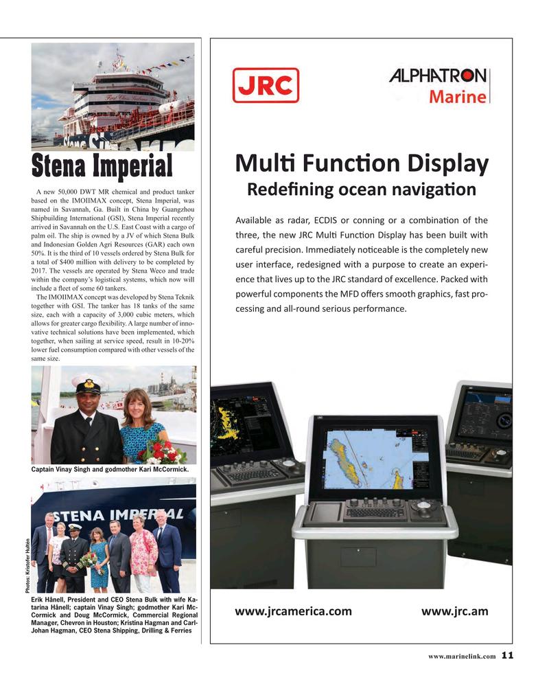 Maritime Reporter Magazine, page 11,  Oct 2015