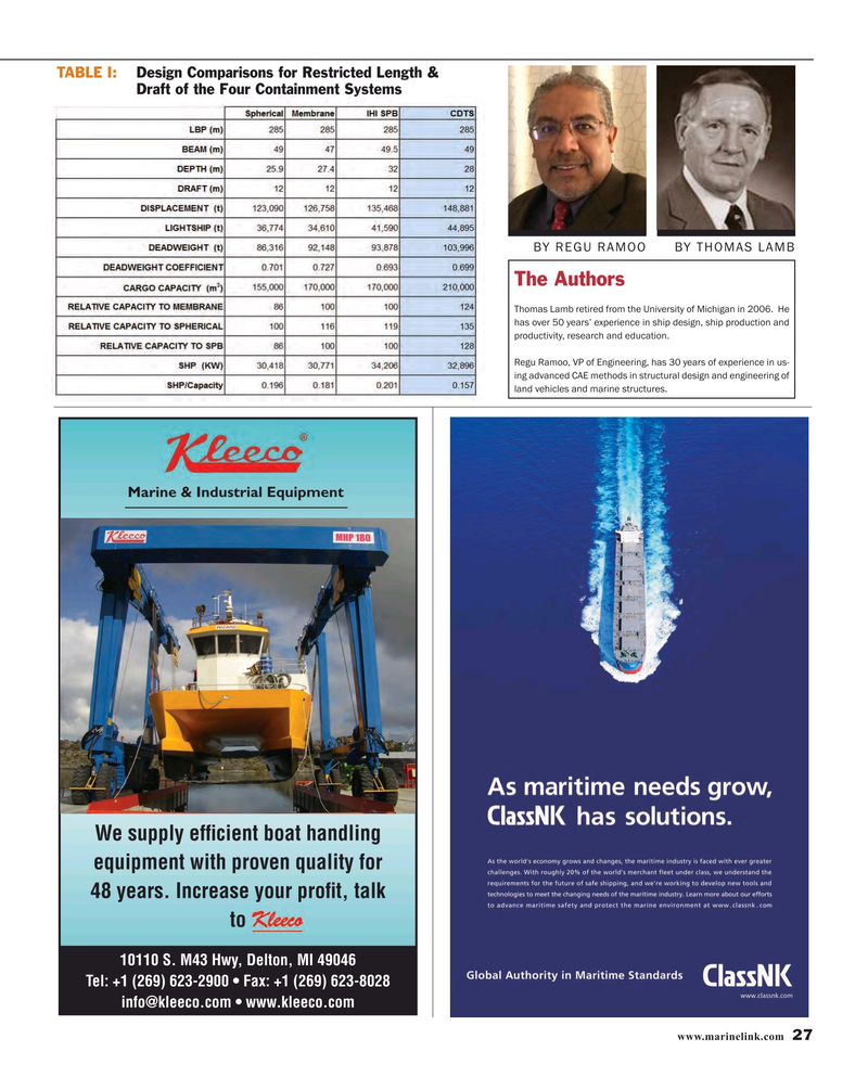 Maritime Reporter Magazine, page 27,  Oct 2015