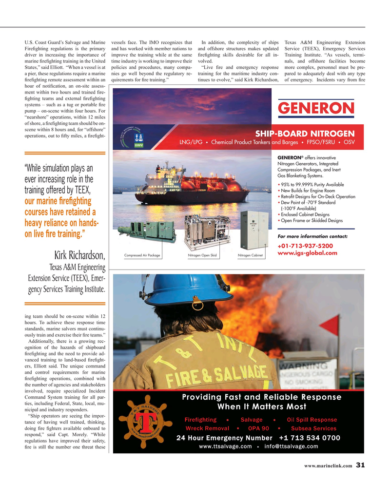 Maritime Reporter Magazine, page 31,  Oct 2015