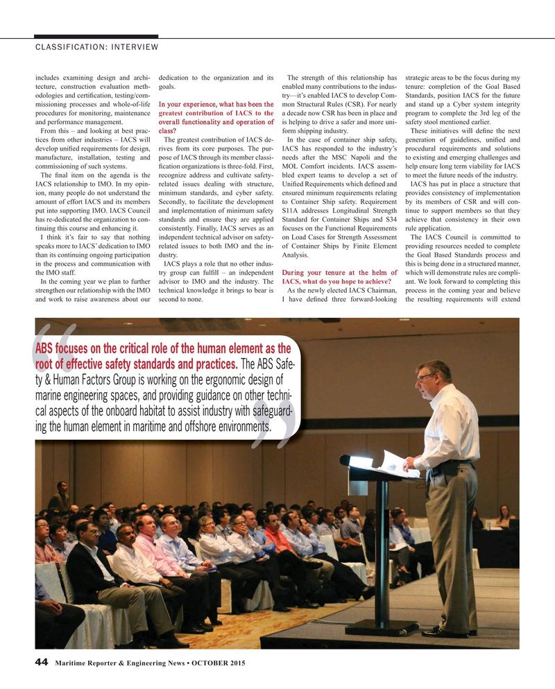 Maritime Reporter Magazine, page 44,  Oct 2015