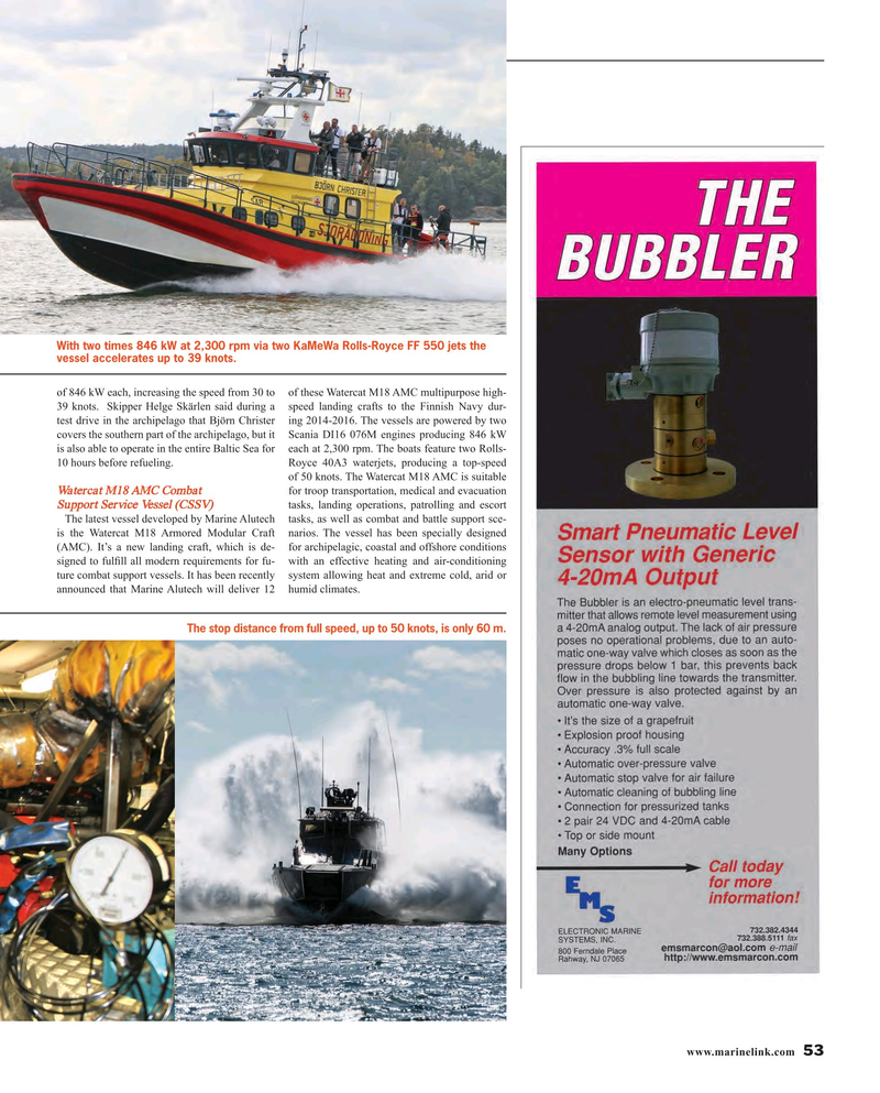 Maritime Reporter Magazine, page 53,  Oct 2015