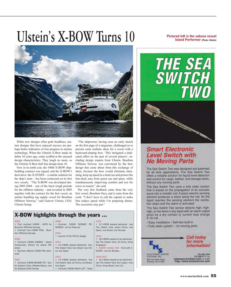 Maritime Reporter Magazine, page 55,  Oct 2015