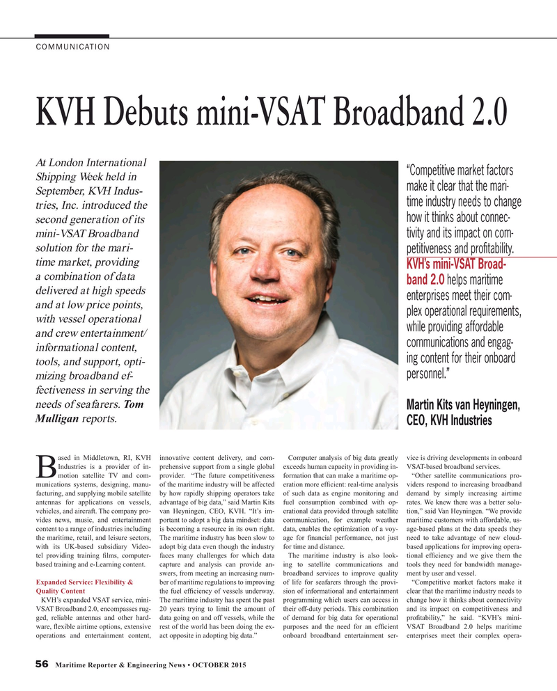 Maritime Reporter Magazine, page 56,  Oct 2015